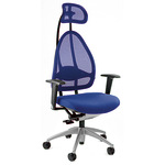 TOPSTAR Bürodrehstuhl Open Art 10 43-52cm Synchronmechanik Rolle hart gebremst (für Teppichboden) Aluminium blau
