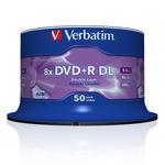 Verbatim DVD+R Double Layer 8,5GB/240 Min 50er
