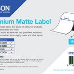 Epson Etiketten-Endlospapier weiß matt 7,6cm x 35m