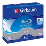 Verbatim BD-R 25GB 5er Jewel Case 43715