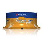 Verbatim DVD-R 4,7GB/120 Min 25er Spindel 43522