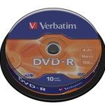 Verbatim DVD-R 4,7GB/120 Min 10er Spindel 43523