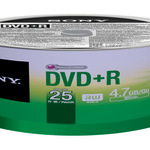 Sony DVD+R 4,7GB/120 Min 25er Spindel 25DPR47SP