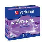 Verbatim DVD+R Double Layer 8,5GB/240 Min 5er