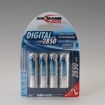 Akku NiMH 4er Blister AA Mignon LR6 2850 mAh 1,2V Digital