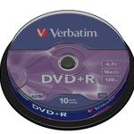 Verbatim DVD+R 4,7GB/120 Min 10er Spindel 43498