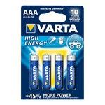 Batterie 4er Blister High Energy AAA Micro LR03 1220 mAh 1,5V Alkaline