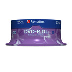 Verbatim DVD+R Double Layer 8,5GB/240 Min 25er
