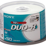 Sony DVD-R 4,7GB/120 Min 50er Spindel