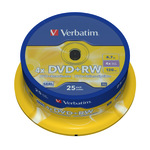 Verbatim DVD+RW 4,7GB/120 Min 25er Spindel 43489