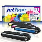jetType Toner Multipack kompatibel zu Brother TN-241 BK/C/M/Y bk= 2.500 S. / cmy= 1.400 S. 4 Stück