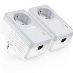 TP-Link TL-PA4010PKIT AV500 Powerline Adapter with AC Pass Through Starter Kit - Bridge - HomePlug AV (HPAV) TL-PA4010PKIT