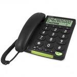 Doro PhoneEasy 312cs - Telefon mit Schnur mit Anruferkennung - Schwarz 380005