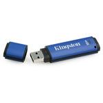 Kingston USB Stick 16GB DTVP/16GB DataTraveler Vault- Privacy Edition USB 2.0 blau