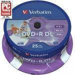 Verbatim 25pack 43667 spindle printable inkjet