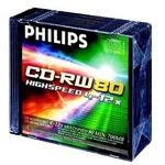 Philips CD-RW 700MB/80 Min 5er Slim Case