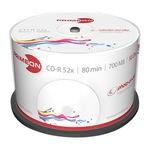 MediaRange CD-R 700MB/80 Min 50er Spindel MR208 bedruckbar Inkjet weiß